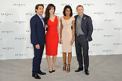 Javier Bardem, Berenice Marlohe, Naomie Harris and Daniel Craig  pose for photographers at the photocall for the 23rd James Bond movie 'Skyfall', London, Thursday November 3, 2011. Photo By i-Images
