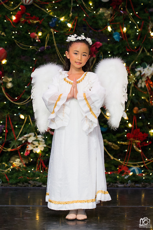 Bay Pointe Ballet school students pose for their Nutcracker portraits at the San Mateo Performing Arts Center in San Mateo, California, on December 11, 2014. (Stan Olszewski/SOSKIphoto)