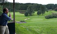 Rottebergen/ GC Hooge Bergsche. DrivingRange met op de achtergrond de 13e , par 3