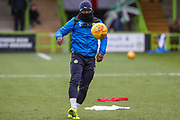 Forest Green Rovers Drissa Traoré(4) warming up during the EFL Sky Bet League 2 match between Forest Green Rovers and Luton Town at the New Lawn, Forest Green, United Kingdom on 16 December 2017. Photo by Shane Healey.