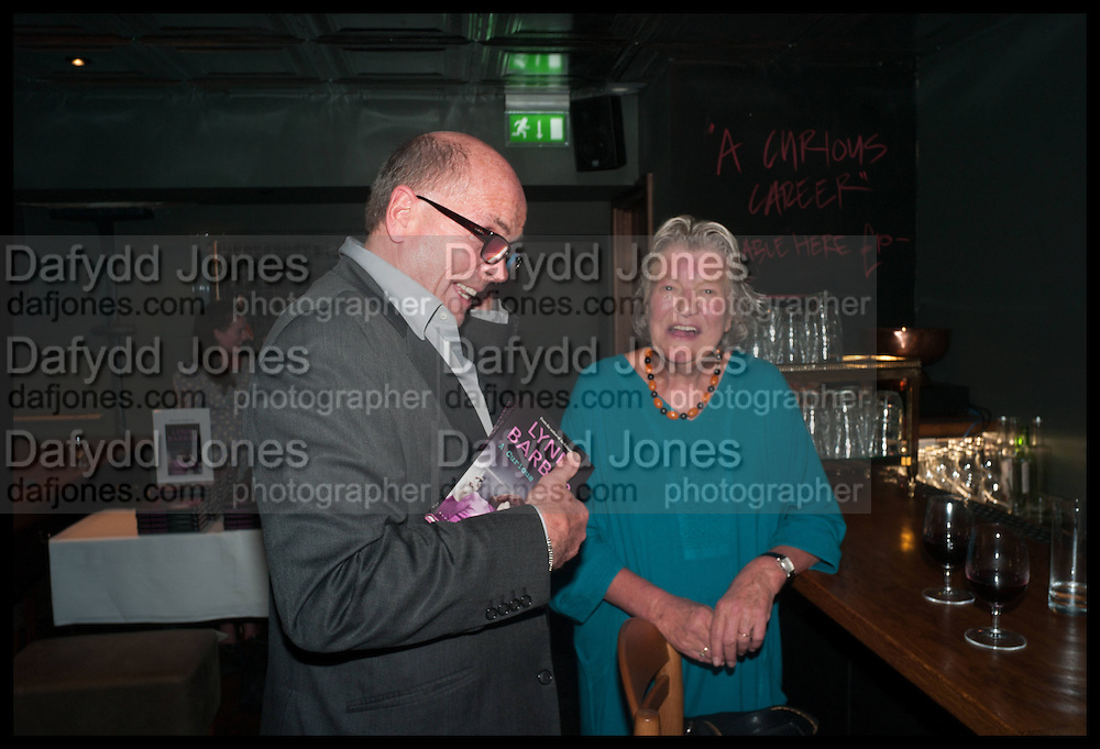 ROGER ALTON; LYNN BARBER, Lynn Barber celebrates her 70th birthday and the publiction of ' A Curious Career. Hixter, 9a Devonshire Sq. London. 8 May 2014.