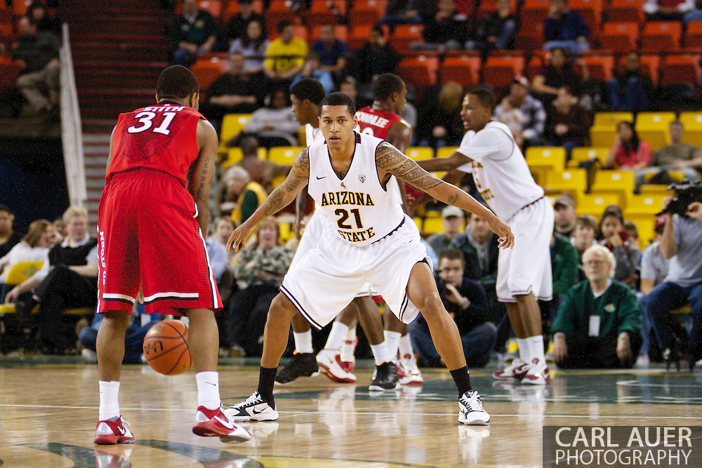November 27th, 2010:  Anchorage, Alaska - Arizona State's Keala King (21) in the Sun Devil's 58-67 loss to St. Johns in the championship game of the Great Alaska Shootout.