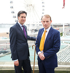 Labour leader Ed Miliband with TV presenter Andrew Marr at the opening day of the Labour Party conference in Brighton, Sunday, 22nd September 2013. Picture by Elliot Franks / i-Images