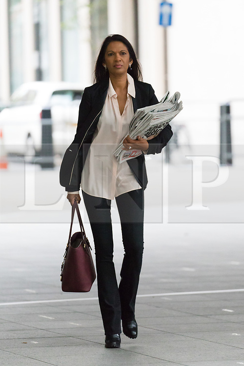 © Licensed to London News Pictures. 09/09/2018. London, UK.  Gina Miller, anti Brexit campaigner and businesswoman arrives at BBC Broadcasting House to appear on the Andrew Marr show.  Photo credit: Vickie Flores/LNP