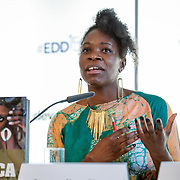 04 June 2015 - Belgium - Brussels - European Development Days - EDD - Growth - From cotton production to ethical clothing and fashion - Jacqueline Shaw<br /> Textile and Fashion Expert © European Union