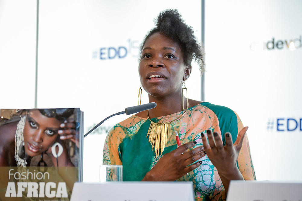 04 June 2015 - Belgium - Brussels - European Development Days - EDD - Growth - From cotton production to ethical clothing and fashion - Jacqueline Shaw<br /> Textile and Fashion Expert &copy; European Union