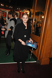 NICOLE STAPLETON at the gala night of Varekai by Cirque du Soleil at The Royal Albert Hall, London on 8th January 2008.<br />