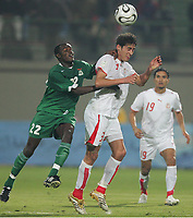 v.l. James Chamanga, Karim Haggui Tunesien<br /> Africa Cup 2006 Tunesien - Zambia<br /> Tunisia <br /> Norway only