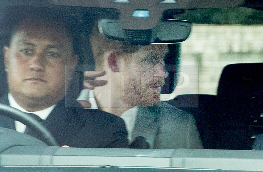 © Licensed to London News Pictures. 18/05/2018. Windsor, UK. Prince Harry arrives at Windsor Castle ahead of tomorrow's wedding.  Photo credit: Peter Macdiarmid/LNP