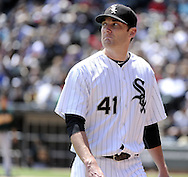 CHICAGO - JUNE 12:  Phil Humber #41 of the Chicago White Sox looks on against the Oakland Athletics on June 12, 2011 at U.S. Cellular Field in Chicago, Illinois.  The White Sox defeated the Athletics 5-4.  (Photo by Ron Vesely)   Subject:  Phil Humber