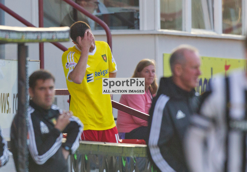 Dunfermline Athletic v Albion Rovers SPFL League One Season 2015/16 East End Park 03 October  2015<br /> Darren Young is sent off<br /> CRAIG BROWN | sportPix.org.uk