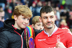March 9, 2019 - Nottingham, England, United Kingdom - Commonwealth Featherweight Boxing Champion and Forest supporter Leigh Wood poses for a photo with a supporter during the Sky Bet Championship match between Nottingham Forest and Hull City at the City Ground, Nottingham on Saturday 9th March 2019. (Credit Image: © Jon Hobley/NurPhoto via ZUMA Press)