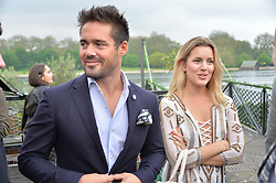 SPENCER MATTHEWS and CAGGIE DUNLOP at a party to launch the Taylor Morris Explorer Collection held at the Serpentine Lido, Hyde Park, London on 11th May 2016.