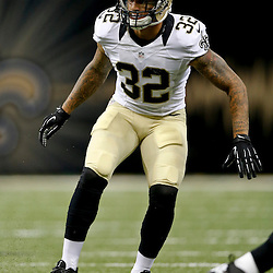 Aug 9, 2013; New Orleans, LA, USA; New Orleans Saints strong safety Kenny Vaccaro (32) against the Kansas City Chiefs during a preseason game at the Mercedes-Benz Superdome. The Saints defeated the Chiefs 17-13. Mandatory Credit: Derick E. Hingle-USA TODAY Sports