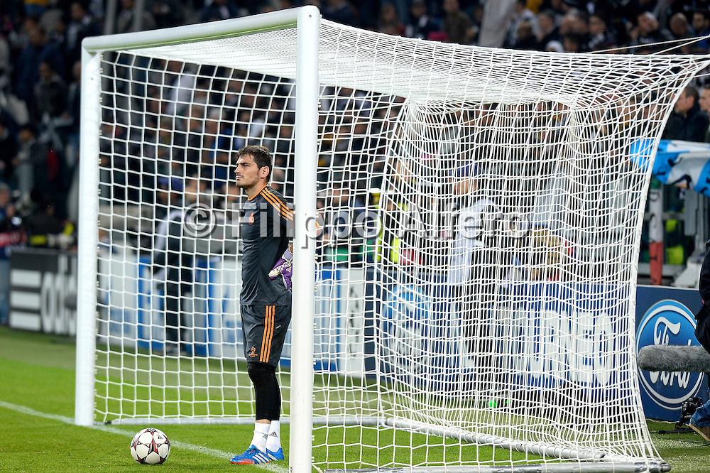 &copy; Filippo Alfero<br /> Juventus-Real Madrid, Champions League 2013-2014<br /> Torino, 05/11/2013<br /> sport calcio<br /> Nella foto: Iker Casillas