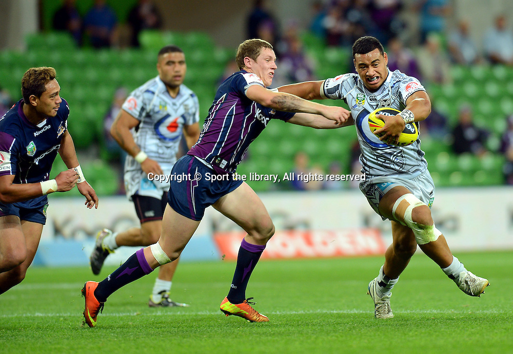 NYC / NZ<br /> NRL - New Zealand Warriors 2013<br /> National Rugby League / vs Melb Storm<br /> AAMI Park, Melbourne VIC<br /> Thursday 25 April 2013<br /> &copy; Sport the library / Jeff Crow