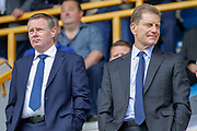 Millwall Chief Executive Steve Kavanagh and Millwall Director Constantine Gonticas during the EFL Sky Bet Championship match between Millwall and Hull City at The Den, London, England on 31 August 2019.