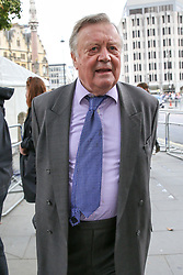 © Licensed to London News Pictures. 10/09/2019. London, UK. Ken Clarke departs from Westminster Abbey in London after attending a memorial service for Lord Paddy Ashdown. Lord Ashdown became the leader of the newly formed Liberal Democrats created by the merger of the Liberal Party and the Social Democratic Party in 1988, a position he held for 11 years before standing down in 1999. Photo credit: Dinendra Haria/LNP