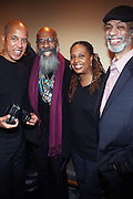 l to r: Glenn Turner, Richie Havens, Kim Jordan and Gil Scott Heron backstage at Gil Scott Heron Produced by Jill Newman Productions and held at BB King on November 4, 2009 in New York City