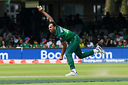 Wahab Riaz of Pakistan bowling during the ICC Cricket World Cup 2019 match between Pakistan and Bangladesh at Lord's Cricket Ground, St John's Wood, United Kingdom on 5 July 2019.