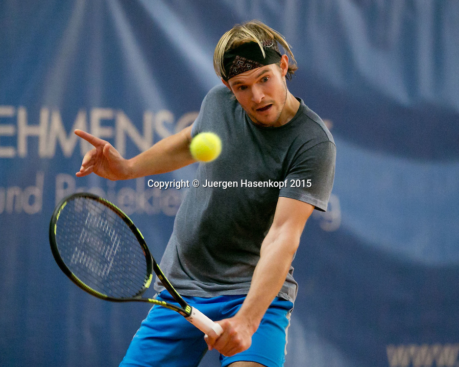Philipp Dittmer (GER)<br /> <br /> Tennis - Ismaning Open 2015 - ITF 10.000 -  TC Ismaning - Ismaning - Bavaria - Germany - 28 October 2015. <br /> &copy; Juergen Hasenkopf
