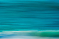 Blue blur of the ocean, D'Arros Island and St Joseph Atoll, Amirantees, Seychelles,