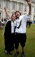 Graduating Students at Cambridge University Graduation Day 2007.