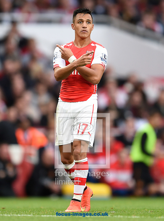 Alexis Sanchez of Arsenal during the Barclays Premier League match against Hull City at the Emirates Stadium, London<br /> Picture by Andrew Timms/Focus Images Ltd +44 7917 236526<br /> 18/10/2014