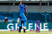 India ODI bowler Kuldeep Yadav bowls during the 3rd Royal London ODI match between England and India at Headingley Stadium, Headingley, United Kingdom on 17 July 2018. Picture by Simon Davies.