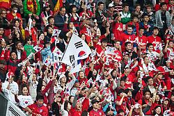 03.06.2010, Tivoli, Innsbruck, AUT, FIFA Worldcup Vorbereitung, Testspiel Spanien (ESP) vs Sued Korea (KOR), im Bild koreanische Fansektor. EXPA Pictures © 2010, PhotoCredit: EXPA/ J. Groder / SPORTIDA PHOTO AGENCY
