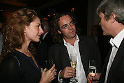 Elizabeth Sheinkman and Jamie Byng, A A Gill party to celebrate the  publication of Table Talk, a collection of his reviews. Hosted by Marco Pierre White at <br />