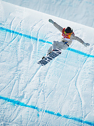 February 10, 2018 - Pyeongchang, South Korea - Seventeen-year-old RED GERARD comes in for a clean landing on the final jump of his gold medal run in the Olympic Mens Snowboard Slopestyle event Sunday at Phoenix Snow Park at the Pyeongchang Winter Olympic Games. (Credit Image: © Mark Reis via ZUMA Wire)