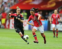 Fotball , EM , Norge - Tyskland 28.juli 2013 , kvinner ,  Sverige , Stockholm , Solna , europamesterskap, finale<br /> Cathrine Høegh Dekkerhus<br /> Foto: Ole Marius Fjalsett