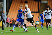 Callum Camps, Ryan McGivern during the Sky Bet League 1 match between Port Vale and Rochdale at Vale Park, Burslem, England on 23 April 2016. Photo by Daniel Youngs.