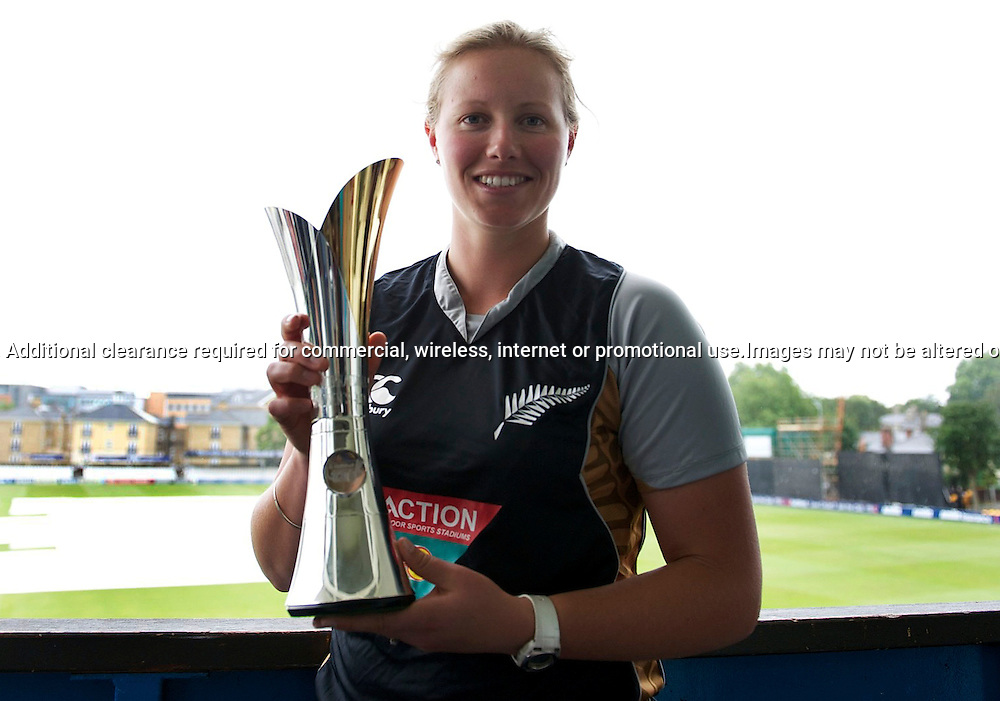22.6.2011. Aimee Watkins, New Zealand Women's cricket captain at the NatWest Women's Quadrangular Series between England, Australia, New Zealand and India, Launch at Essex CCC, The Ford County Ground, Chelmsford, Essex, England. 22 June 2011. Photo Michael Paler/ Photosport.co.nz