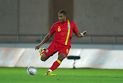 LLANELLI, WALES - Wednesday, August 15, 2012: Wales' Ashley Williams in action against Bosnia-Herzegovina during the international friendly match at Parc y Scarlets. (Pic by David Rawcliffe/Propaganda)