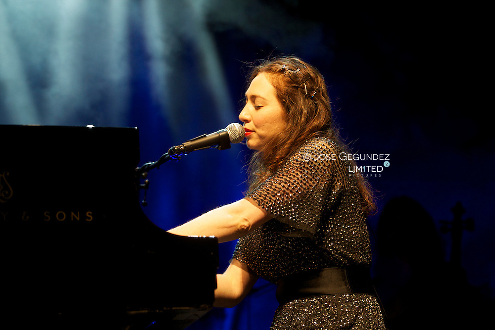 Russian singer Regina Spektor performs on stage during Los Veranos de la Villa at Circo Price in Madrid