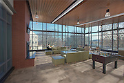 Interior image of The Terrace and Hillside apartments Community Center  at UMBC by Jeffrey Sauers of Commercial Photographics