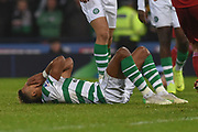 Scott Sinclair rues a missed penalty during the Betfred Cup Final between Celtic and Aberdeen at Hampden Park, Glasgow, United Kingdom on 2 December 2018.