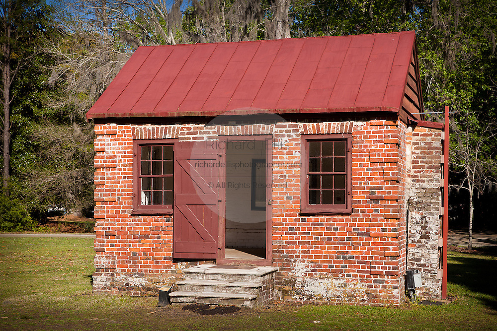 Original outhouse building at Drayton Hall Plantation in Charleston, SC. Palladian style estate built by John Drayton in 1738.