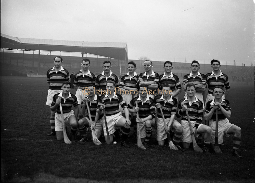 6/12/1953<br /> 12/6/1953<br /> 6 December 1953<br /> Senior Hurling Championship: St. Vincents v Glen Rovers at Croke Park.<br /> Glen Rovers Team.