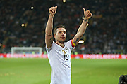 Lukas Podolski of Germany applauds the fans during the International Friendly match between Germany and England at Signal Iduna Park, Dortmund, Germany on 22 March 2017. Photo by Phil Duncan.