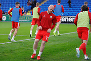 Wales midfielder Jonathan Williams warming up during the Friendly match between Wales and Belarus at the Cardiff City Stadium, Cardiff, Wales on 9 September 2019.