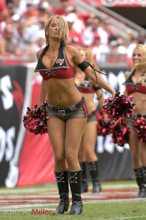 September 16, 2007; Tampa, FL, USA; Tampa Bay Buccaneers cheerleaders during their team's game against the New Orleans Saints  at Raymond James Stadium. Tampa Bay won the game 31-14....©2007 Scott A. Miller
