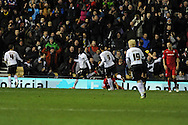 Derby's Theo Robinson © celebrates after he scores to make it 1-1.   NPower championship, Derby county v Cardiff city at Pride Park in Derby on Tuesday 27th November 2012. pic by Andrew Orchard, Andrew Orchard sports photography,