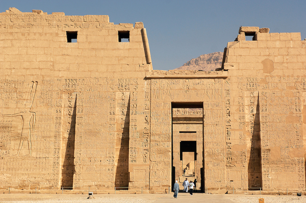 Medinet Habu Temple, Archaeological Sites, West Bank, Thebes West, Luxor, Egypt