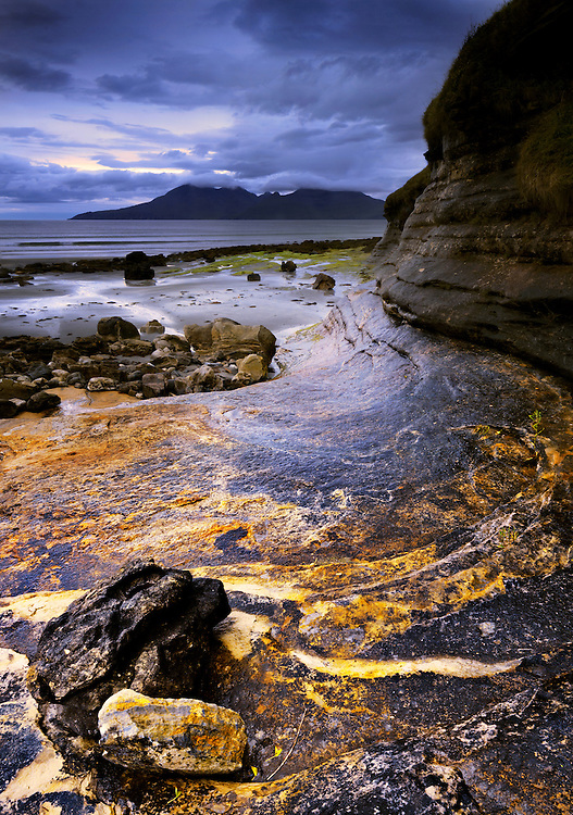 Rum and rock from Laig bay, Isle of Eigg