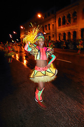 Young black woman in fancy costume at Carnival; Havana; Cuba,