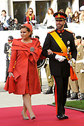 Religious wedding of Grand Duke Guillaume and Princess Stephanie at the Cathedral Notre-Dame in Luxembourg <br /> <br /> On the photo:  Grand Duke Guillaume and Grand Duchess Maria Teresa of Luxembourg