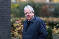 © Licensed to London News Pictures. 05/12/2017. London, UK. Chancellor of the Duchy of Lancaster Patrick McLoughlin arriving in Downing Street to attend a Cabinet meeting this morning.Yesterday, Brexit negotiations on the Northern Ireland border were stalled when Arlene Foster of the DUP said she could not support commitment to keep Northern Ireland aligned with EU laws. Photo credit : Tom Nicholson/LNP